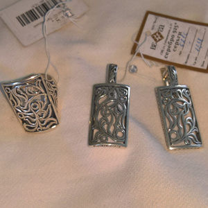 NWT Scroll Sterling Silver Earrings and Ring Set